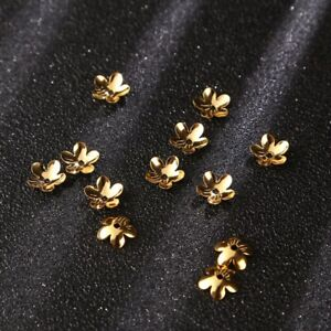 Hole 1mm UNICRAFTALE 100pcs Stainless Steel Bead Caps Multi-Petal Flower Shape Beads Small Hole Bead Cones for DIY Bracelet Jewelry Making 7x1.5mm