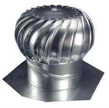Attic 12 in Wind Turbine Roof Vent Exhaust Durable Galvanized Steel Ventilator