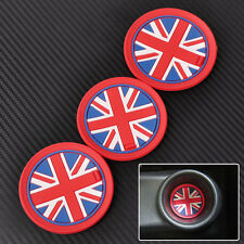 3x Red Union Jack Flag Anti-Slip Cup Mat Pad Drink Coaster for Mini R55 R56 R57
