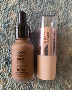 NYX total control drop foundation (19) & Makeup Revolution concealer (17) - new