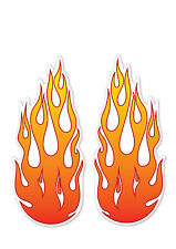 2 x Large Flame/Fire-  funny kids, car, van decal stickers