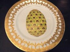 I Godinger, Email de Limoges Hand Painted Faberge Imperial Coronation Egg Plate