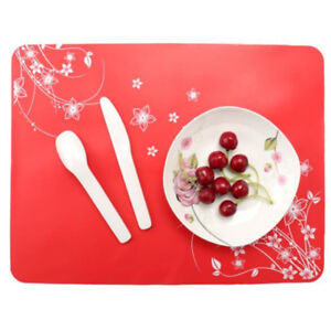 Multi-color Food Silicone Mat Non-slip Waterproof Insulation Baking Placemat HO