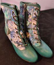 NEW L'Artiste Spring Step Narvi 8 hole lace-up Boots Sz EU39/US8. 5 w/zipper
