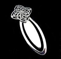 Solid 925 Sterling Silver CELTIC FOUR CORNERED Quaternary KNOT Bookmark