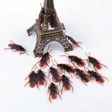 50Pcs Realistic Simulation Rubber Toys Fake Cockroach Roach scary Bug Halloween
