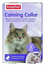 Beaphar Calming Collar for Cats. Reduces Stress. Travelling / Fireworks Anxiety