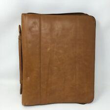 "Boulder Ridge Soft Tan Brown Leather Portfolio Organizer  13.5"" x 11"""
