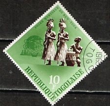 Togo African Tribal Music Ethnicity stamp 1965