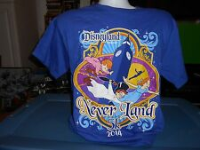 Vintage Walt Disney Disneyland Shirt M Medium Never Land 5K 2014 New