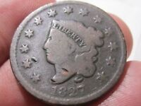 1827 Coronet Head Large Cent -  Very Good Condition    AS-6G