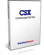 L&N NC&StL Main Line Chattanooga Sub Track Map - PDF on CD - RailfanDepot