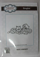 Creative Expressions single rubber stamp Best Friends