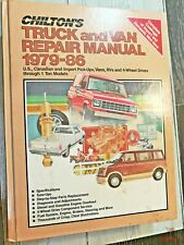 New ListingChilton's Truck and Van Repair Manual 1979-86 U.S. Import Vans Rvs 4-Wheel Drive