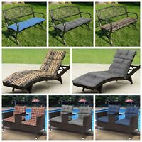 Dining Patio Pillow Chaise Lounge Comfort Cushion Pad Seat Bench Cushions
