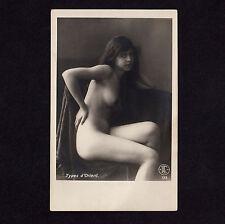 Lehnert & Landrock NUDE ARAB GIRL N°123 NACKTE ARABERIN * Vintage 20s Photo PC *