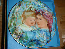 "Porcelaine Plate ""Mothers day"" Hibet collection Knowles Nib"