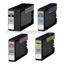 4PK New Hi-Yield BK/C/M/Y Ink For Canon PGI-2200 XL MAXIFY MB5020 MB5320 IB4020