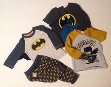 Baby Boys 3-6 + 6-9 + 9-12 Months H&M DC Comics Batman Bundle Set Top Bottoms