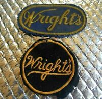 2 Vintage Patch Patches Wright's Service Patches