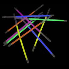 25 pack Glow Straws Drinking Glow in The Dark Party
