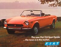 1970 Fiat 124 Sport Spider Brochure Sheet, Original 70