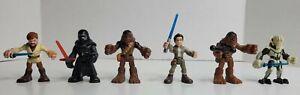 STAR WARS Figures Lot of 6 Playskool Galactic Heroes & Imaginext Chewbacca
