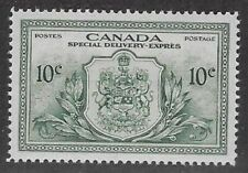 Canada, Peace Issue Special Delivery 1946 10¢ Green  Sc #E11, VF, PR/OG - dw59.7