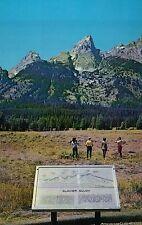 Glacier Gulch Grand Teton National Park Wyoming WY Mountains & Plaque - Postcard