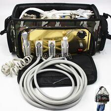 Dental Portable Turbine Unit 4Hole & Air Compressor Suction System 3 Way Syringe
