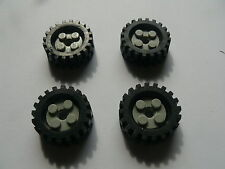 Lego 4 roues gris clair set 4153 4055 4128 / 4 old light gray wheels