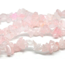 "1 Strand (34"") Rose Quartz GEMSTONES Bead Chips 5mm - 9mm Stones J11226xb"