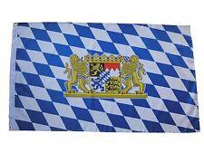 Fahne Flagge Bayern mit großem Wappen 90x150 cm mit Ösen