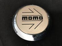 "Momo Custom Wheel Center Cap Chrome Finish Machined Center 11070 3"""