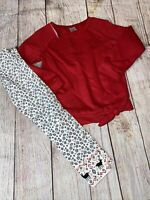 Carters 4 Girls Red Sweatshirt Snowflake Leggings Outfit Set Holiday NEW