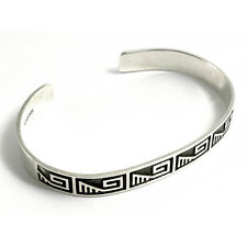 """NEW Genuine 7.5"""" Mexican Solid Silver Tribal Torque 8mm UK HM Mens / Womens"""