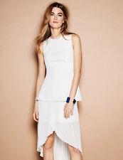 C/meo Be My Kind Ivory White Chiffon Cut Out Dress Wedding 6 8 10 12 Cameo