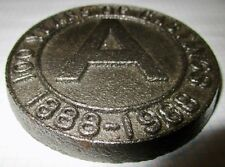 Vintage Cast Iron 1888-1988 Commemorative 100 Years of Castings A Foundry Plaque