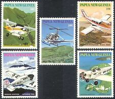 PNG 1981 MAF/Planes/Helicopter/Aircraft/Aviation/Transport 5v set (n41751)