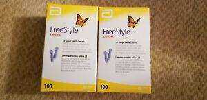 Freestyle lite lancets 2 BOX of 100 for Diabetic Blood glucose testing 2024/09