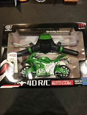1/8 gravity induction full simulated remote control motor cycle (Green) 2.4G