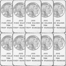 American Buffalo Bar by SilverTowne 10oz .999 Silver Bar (10pc)