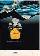 Publicité Advertising 1977 Le Parfum Cabochard de Grès
