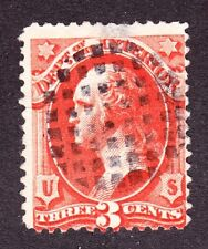 US O17 3c Interior Department Used w/ Fancy Grid Cancel