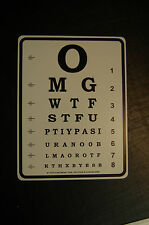 Eye doctor Chart  chat text slang Abbreviation Acronyms mancave bar garage sign