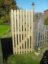 1.8 m high x 915 mm wooden palisade side entrance house garden gate see through