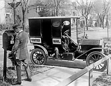 Historical 1919 Photograph of Post Office Mail Delivery Mailman & Truck  8x10