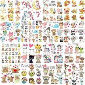 Iron Cute Animal Patches Set for Kids Clothing DIY T-shirt Applique Heat sticker