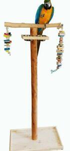 FREISITZ aus ROTBUCHENHOLZ,145 cm,Papageienspielzeug,mittl/große Papageienarten