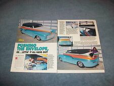 "1948 Ford Phantom Tudor Tub Custom Street Rod Article ""Pushing the Envelope..."""